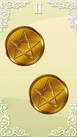 コインの2の正位置