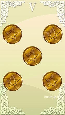 コインの5の正位置