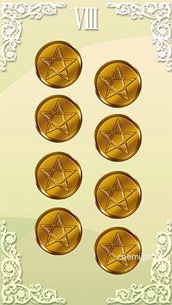 コインの8の正位置