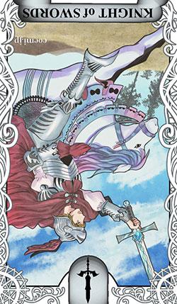 ソードのナイト(剣の騎士)の逆位置