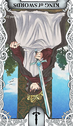 ソードのキング(剣の王)の逆位置